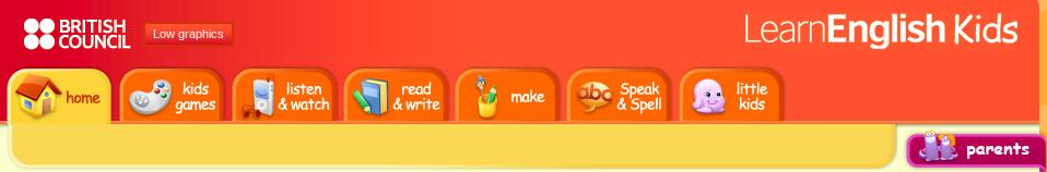 LearnEnglishKids Portal de Internet para que os nenos aprendan inglés de forma divertida.