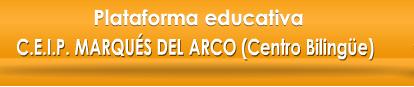 CEIP Marqués del Arco Plataforma educativa